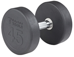 Body Solid SDP45 Rubber Round Dumbbell 45 Lb. Image