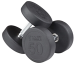 Body Solid SDPS550 Rubber Round Dumbbell Set 5 to 50 Lbs Image