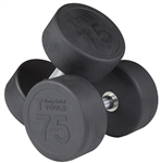 Body Solid SDPS650 Rubber Round Dumbbell Set 55 to 75 Lbs Image