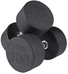 Body Solid SDPS900 Rubber Round Dumbbell Set 80 to 100 Lbs Image