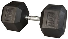 Body Solid Rubber Coated Hex Dumbbell 100 Lbs Image