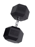 Body Solid SDR105 Rubber Coated Hex Dumbbell 105 Lbs Image