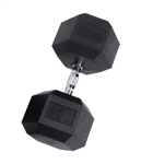 Body Solid Rubber Coated Hex Dumbbell 110 Lbs Image