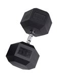 Body Solid SDR115 Rubber Coated Hex Dumbbell 115 Lbs Image