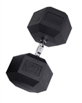 Body Solid Rubber Coated Hex Dumbbell 120 Lbs Image
