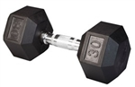 Body Solid SDR30 Rubber Coated Hex Dumbbell 30 Lbs Image