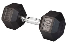Body Solid Rubber Coated Hex Dumbbell 30 Lbs Image