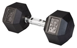 Body Solid SDR35 Rubber Coated Hex Dumbbell 35 Lbs Image