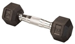 Body Solid Rubber Coated Hex Dumbbell 5 Lbs Image