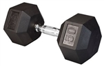 Body Solid SDR50 Rubber Coated Hex Dumbbell 50 Lbs Image