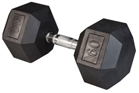 Body Solid Rubber Coated Hex Dumbbell 60 Lbs Image