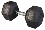 Body Solid SDR65 Rubber Coated Hex Dumbbell 65 Lbs Image