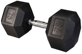 Body Solid Rubber Coated Hex Dumbbell 75 Lbs Image