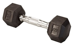 Body Solid Rubber Coated Hex Dumbbell 8 Lbs Image