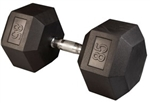 Body Solid SDR85 Rubber Coated Hex Dumbbell 85 Lbs Image
