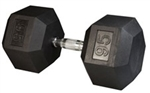 Body Solid SDR95 Rubber Coated Hex Dumbbell 95 Lbs Image