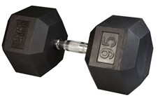 Body Solid Rubber Coated Hex Dumbbell 95 Lbs Image