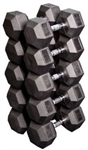Body Solid SDRS650 Rubber Coated Hex Dumbbell Set 55 to 75 Lbs Image