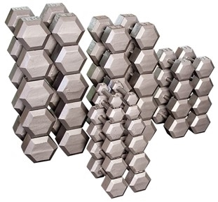 Body Solid Hex Dumbbell Set 80 to 100 Lbs. Image