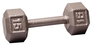 Body Solid Hex Dumbbell 15 lbs. Image