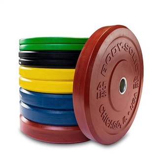 Body Solid Chicago Extreme Colored Bumper Plates - 260 lbs Image