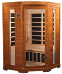 "GoldenDesigns DYN-6225-02 Dynamic ""Heming"" Low EMF Far Infrared Sauna 