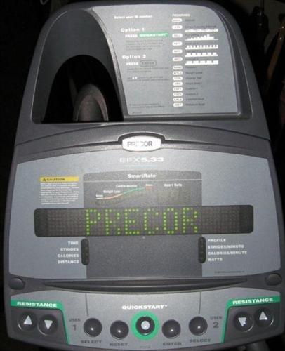 Cybex Treadmill Svc Error 3: Precor EFX 5.33 Elliptical CrossTrainer