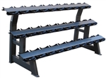French Fitness 3 Tier Saddle 15 Pair Dumbbell Rack Image