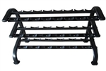 French Fitness 3 Tier Saddle Dumbbell Rack, 10 Pairs Image