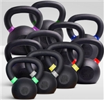 French Fitness Cast Iron Kettlebell Set 5-50 lbs Image
