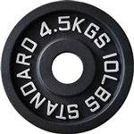 French Fitness Cast Iron Olympic Weight Plate 10 lbs Image