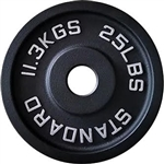 French Fitness Cast Iron Olympic Weight Plate 25 lbs Image
