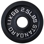 French Fitness Cast Iron Olympic Weight Plate 2.5 lbs Image