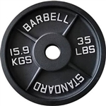 French Fitness Cast Iron Olympic Weight Plate 35 lbs Image