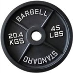 French Fitness Cast Iron Olympic Weight Plate 45 lbs Image