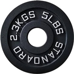 French Fitness Cast Iron Olympic Weight Plate 5 lbs Image