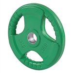 French Fitness Colored Rubber Grip Olympic Plate 25 lbs Image