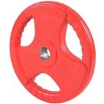 French Fitness Colored Rubber Grip Olympic Plate 45 lbs Image