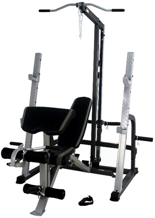 French Fitness FL3 Freightweight Lat & Olympic Bench Gym Image