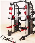 French Fitness FSR50 Dual Cable & Smith Rack Home Gym Image