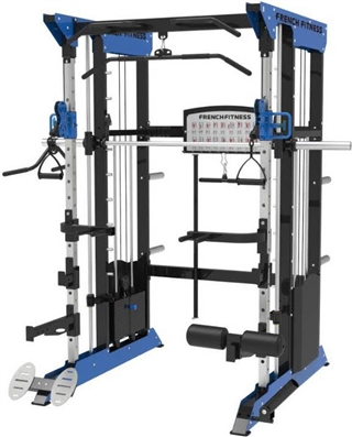 French Fitness FSR70 Dual Cable Smith & Half Rack System Image