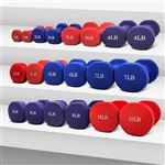 French Fitness Hex Vinyl Dumbbell Set, 1-10 lbs Image