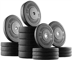 French Fitness Olympic Bumper Plate Set 470 lbs Image