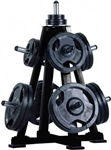 French Fitness OWT30 Olympic Weight Tree Storage Rack Image