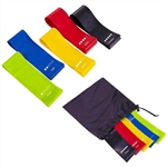 French Fitness Mini Resistance Bands Exercise Loops 600mm x 50mm, Set of 5 Image