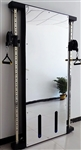 French Fitness Wall Mounted Mirror Functional Trainer Image