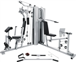 French Fitness X2 Corner Home Gym System Image