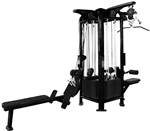 French Fitness FFB Black 4 Stack Multi Jungle Gym Image