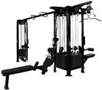 French Fitness FFB Black 5 Stack Multi Jungle Gym Image