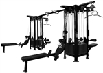 French Fitness FFB Black 8 Stack Multi Jungle Gym Image